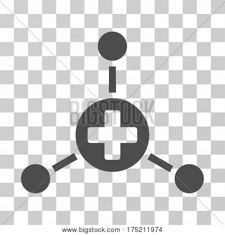 Medical Center icon. Vector illustration style is flat iconic symbol gray color transparent background. Designed for web and software interfaces.