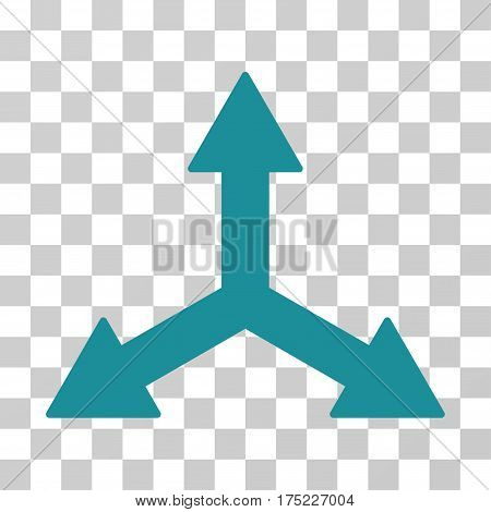 Triple Arrows icon. Vector illustration style is flat iconic symbol, soft blue color, transparent background. Designed for web and software interfaces.