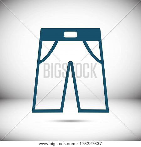 pants icon stock vector illustration flat design