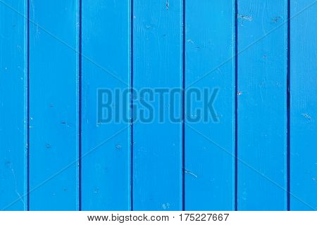 Blue painted wooden wall useful as background