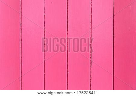 Pink painted wooden wall useful as background