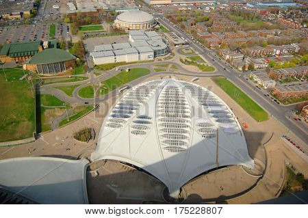 MONTREAL - MAY. 4, 2009: Biodome in Montreal Olympic Park, Montreal, Quebec, Canada. Montreal Olympic Park is the site of the 1976 Summer Olympic Games.