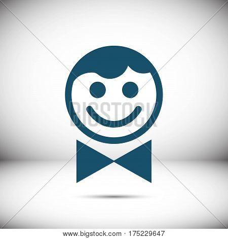waiter icon stock vector illustration flat design