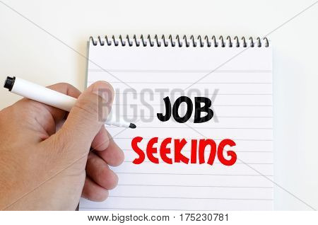 Job seeking text concept isolated over white background
