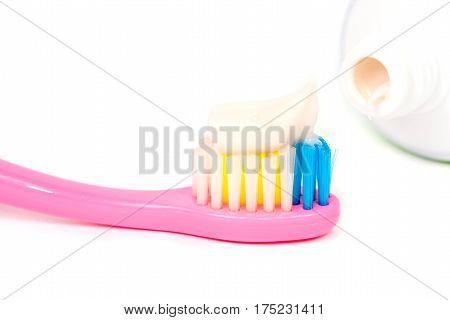 Toothbrush Closeup Of Pasta