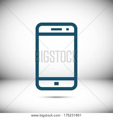 smartphone icon stock vector illustration flat design