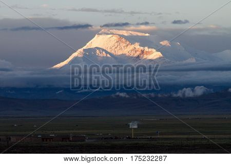 Gurla Mandhata, or Naimona'nyi or Memo Nani is the highest peak of the Nalakankar Himal, a small subrange of the Himalaya. It lies in Burang County of the Ngari Prefecture in the Tibet Autonomous Region of China, near the northwest corner of Nepal. I