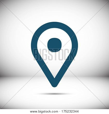map pointer icon stock vector illustration flat design