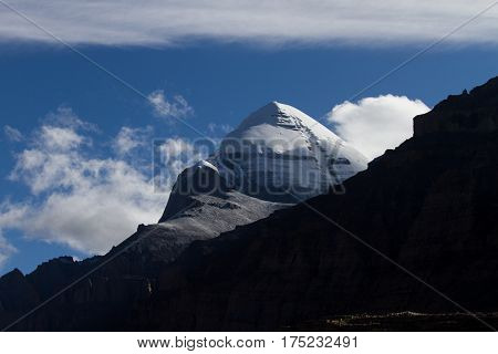 Kailash - the holiest mountain of Tibet. Object of pilgrimage of buddhist, hindu, jains and adepts of bon religion. Home of the Lord Shiva.
