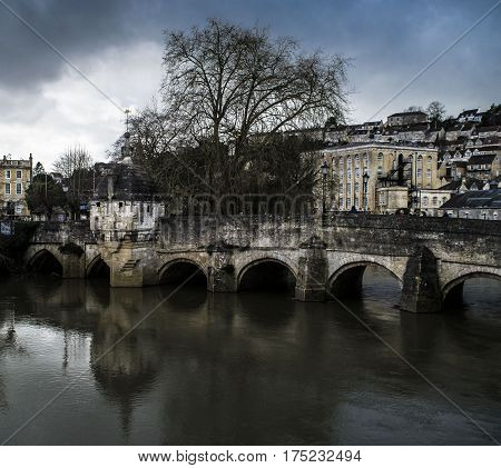 Bridge in the center Bradford on Avon.england.