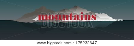 Panorama vector illustration of mountain ridges based on the Smokey Mountains