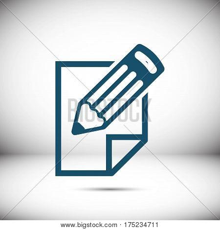 checklist  icon stock vector illustration flat design