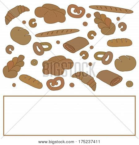 Vector bakery card template with space for text.