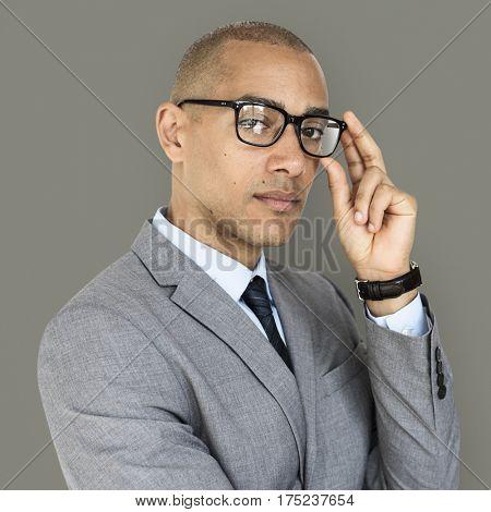 African Descent Business Man Glasses Concept
