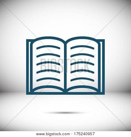 open book icon stock vector illustration flat design