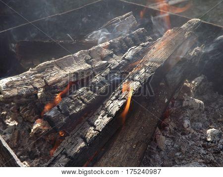 Fire, fire, heat, coals, smoke, ash, brazier, firewood, fuel