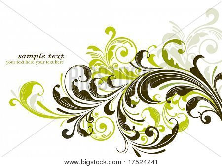 grunge floral decorative background