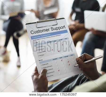 Customer Satisfaction Service Care Problem Solving concept