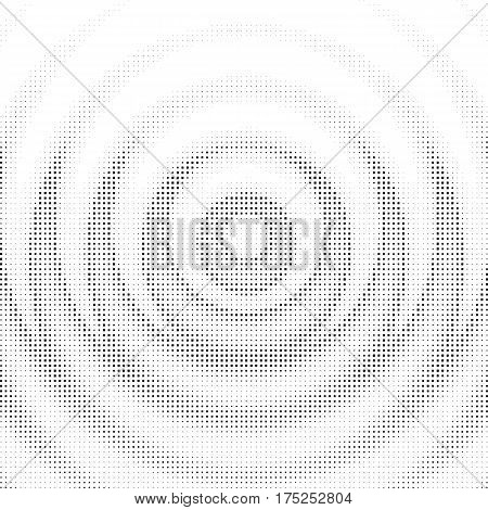 Wavy mandala halftone background with cubic elements. Vector Illustration.