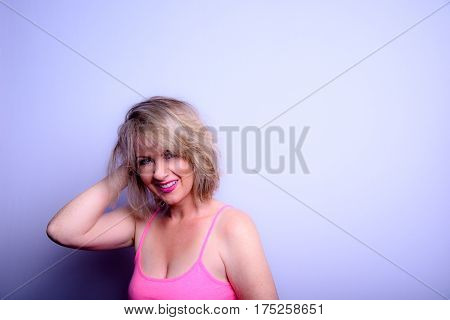 A Woman With A Blonde Bob Hairstyle