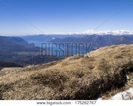 Panorama Of Lake Maggiore