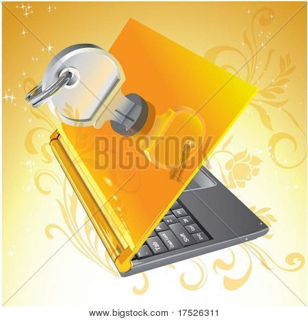 Vector Notebook Lockable pattern