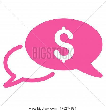 Wire Transfer vector icon. Illustration style is a flat iconic pink symbol on white background.