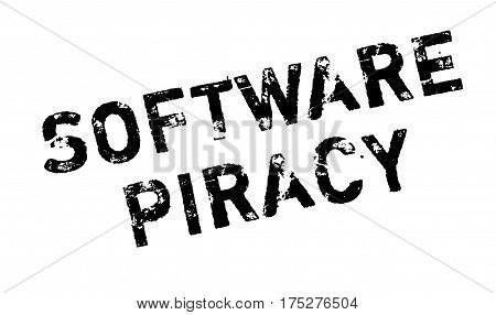 Software Piracy rubber stamp. Grunge design with dust scratches. Effects can be easily removed for a clean, crisp look. Color is easily changed.