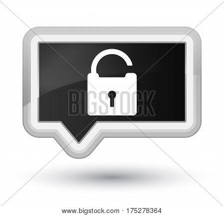 Unlock Icon Prime Black Banner Button