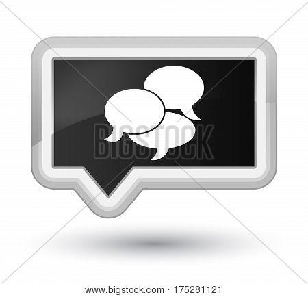 Comments Icon Prime Black Banner Button
