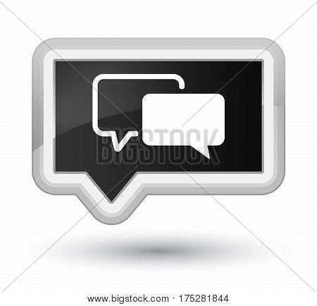 Testimonials Icon Prime Black Banner Button