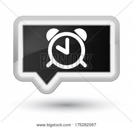Alarm Clock Icon Prime Black Banner Button