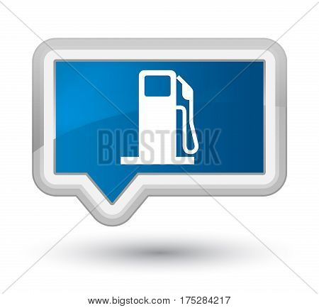 Fuel Dispenser Icon Prime Blue Banner Button