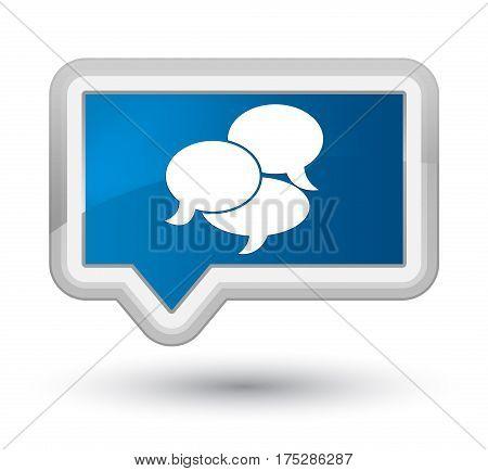 Comments Icon Prime Blue Banner Button