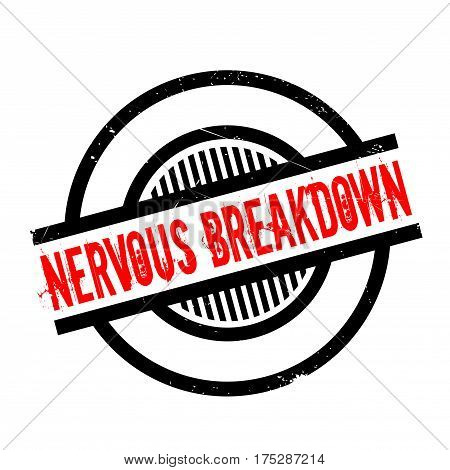 Nervous Breakdown rubber stamp. Grunge design with dust scratches. Effects can be easily removed for a clean, crisp look. Color is easily changed.