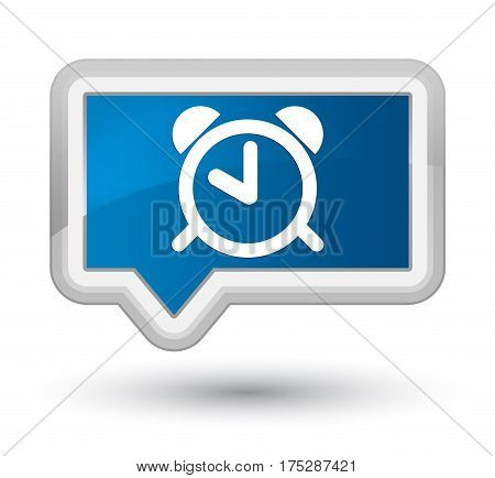 Alarm Clock Icon Prime Blue Banner Button