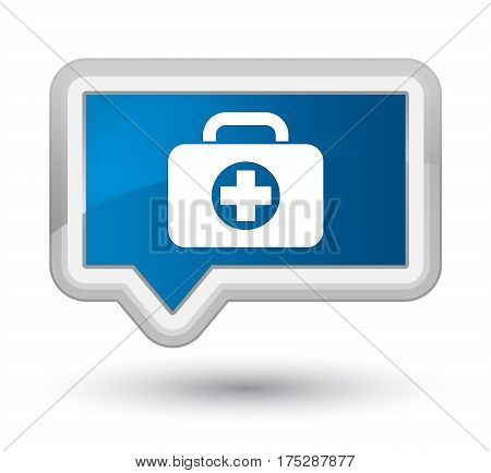 First Aid Kit Bag Icon Prime Blue Banner Button