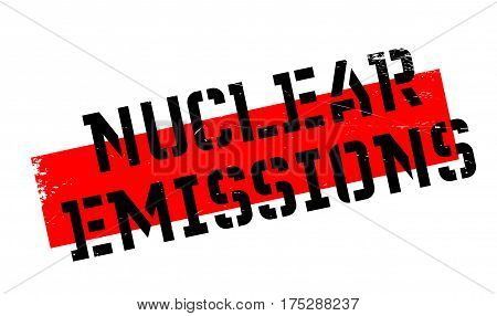 Nuclear Emissions rubber stamp. Grunge design with dust scratches. Effects can be easily removed for a clean, crisp look. Color is easily changed.