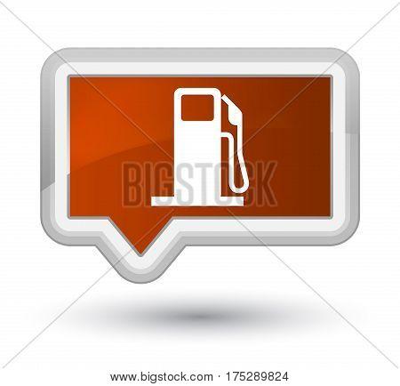Fuel Dispenser Icon Prime Brown Banner Button