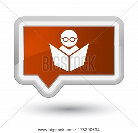 Elearning Icon Prime Brown Banner Button