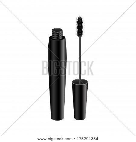 black eyelash mascara icon, vector illustraction design