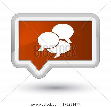 Comments Icon Prime Brown Banner Button