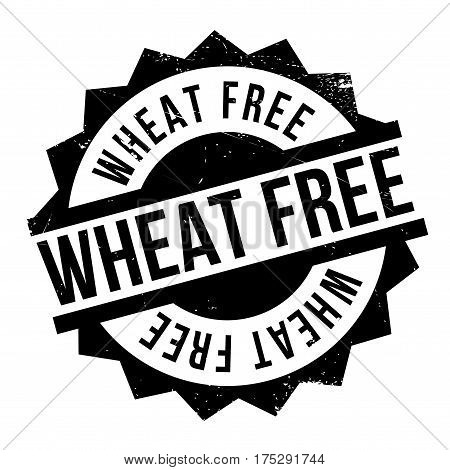 Wheat Free rubber stamp. Grunge design with dust scratches. Effects can be easily removed for a clean, crisp look. Color is easily changed.