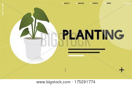 Plant symbol environmental green graphic