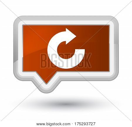 Reply Arrow Icon Prime Brown Banner Button