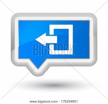 Logout Icon Prime Cyan Blue Banner Button