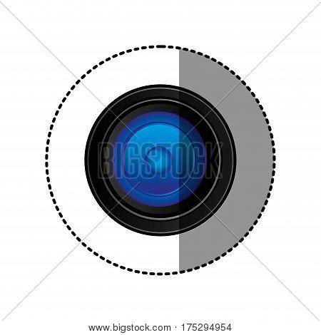 back camera lense icon, vector illustraction design image