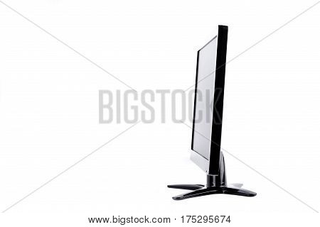 display monitor computer display on white background  hardware  desktop technology isolated