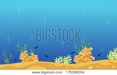 Illustration vector of underwater landscape collection stock