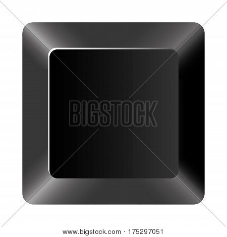 black button of computer keyboard, vector illustraction design
